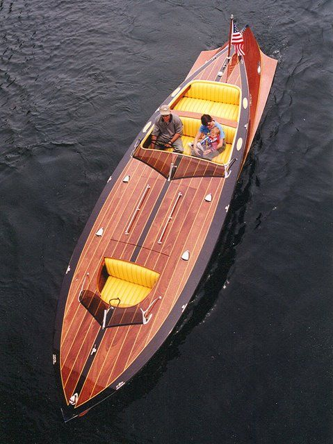 Torpedo by StanCraft. Yes, it's a boat, but it's to die for. The woodworking in these boats is absolutely amazing. These are floating works of art and handcrafted treasures.
