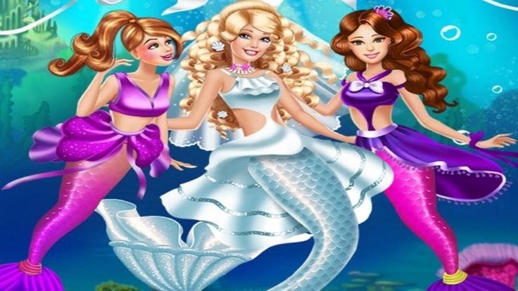 Em Barbie Casamento de Sereia. Barbie é uma princesa sereia muito bonita e estilosa. Hoje é o dia de seu casamento com um príncipe do mar, e ela precisa estar mais bonita do que nunca para este dia tão importante. Use suas habilidades fashionista para criar o visual mais fashion de todo o mar. Não se esqueça de arrumar as amigas da Barbie, que vão ser madrinhas e seu casamento. Divirta-se com a Barbie!