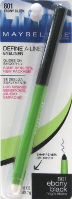 Maybelline Define-A-Line Eyeliner Ebony Black by Maybelline. Maybelline Define-A-Line Eyeliner Ebony Black (2-Pack).