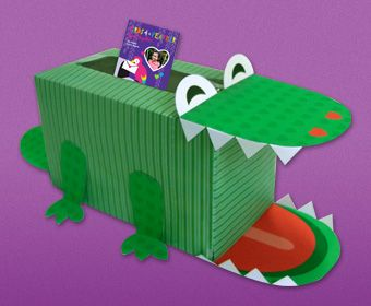 "Crocodile Valentine's Box: ""It Would Be Cute to Do A Heart Shaped Tongue Or Hearts In The Eyes Too""~"