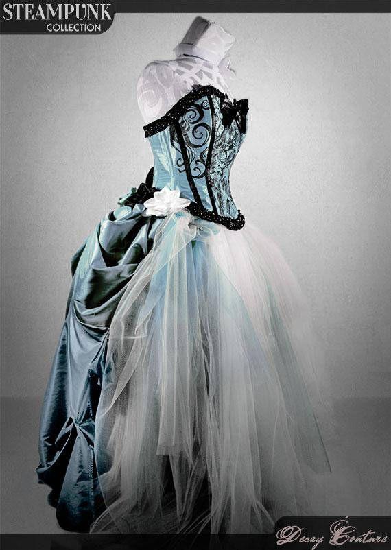 Steampunk Wedding Gowns Steampunk Wedding Dress Teal Wedding