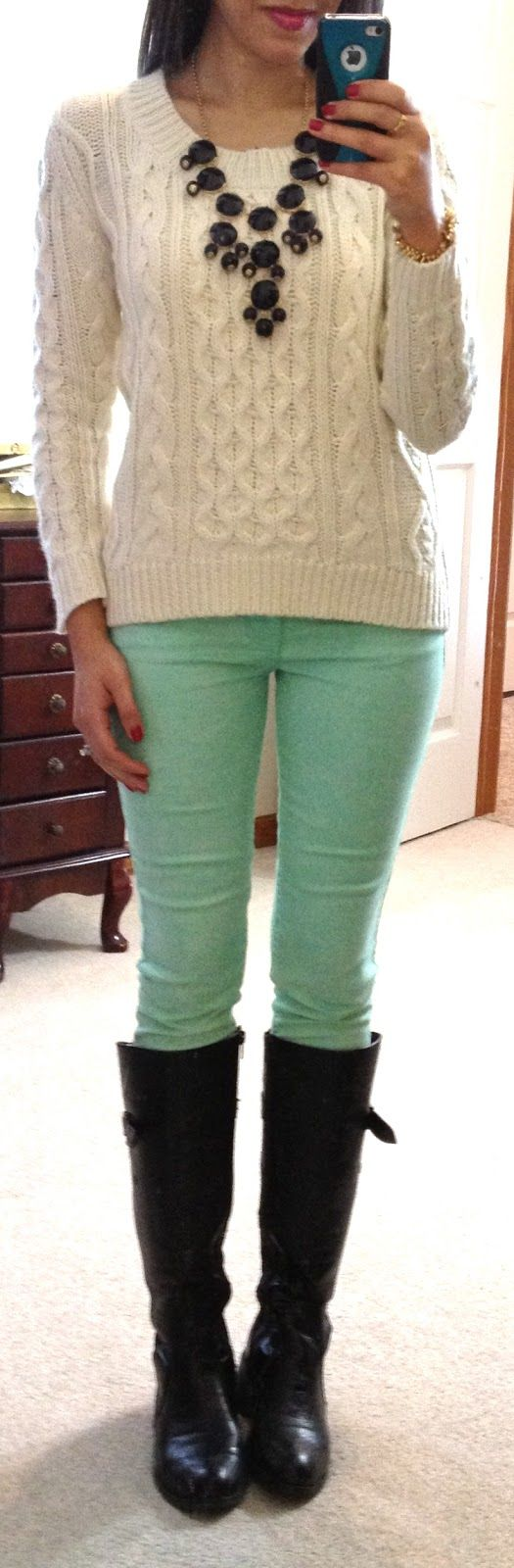 mint, cream, & black inspiration of how to wear my new jeans now all I need is for summer to arrive in blighty.