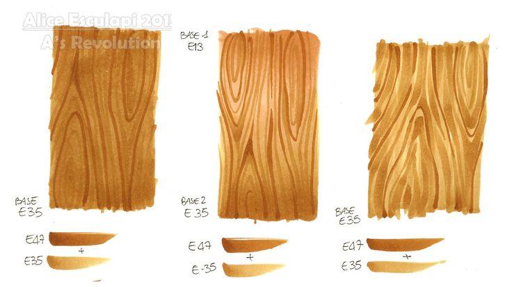 Copic Italia: Tutorial: Different Wood Textures