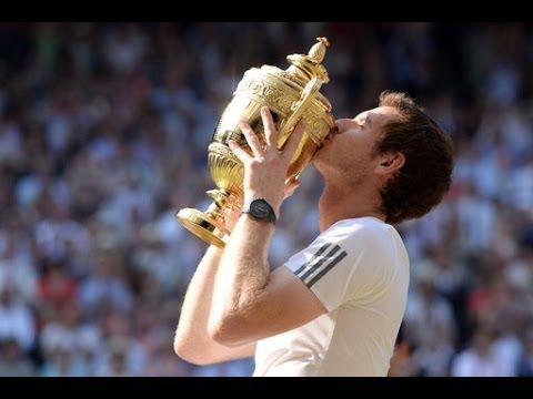 Andy Murray wins Wimbledon 2013 title - YouTube