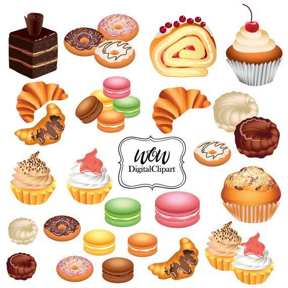Cupcakes Clipart Clip Art Bakery Clipart by WowDigitalClipart