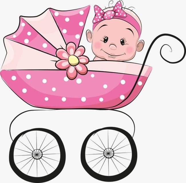 Carrinho De Bebe Do Vetor Baby Bebe Dos Desenhos Animados