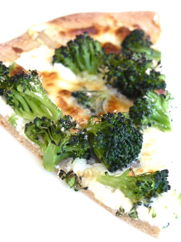 My Favorite Broccoli White Pizza With Whole Wheat Crust