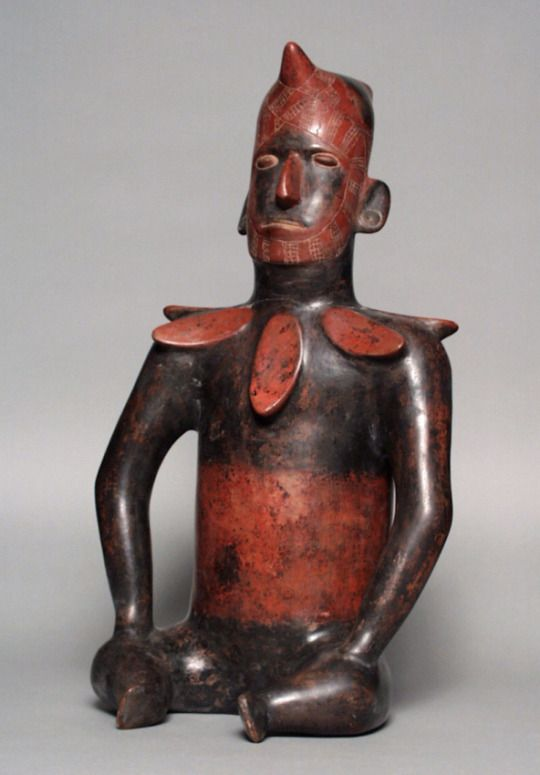 Seated Figure  Mexico, Colima, shaft tomb culture, 200 B.C. - A.D. 500  Tlatollotl