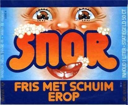 Snor (frisdrank) Kijk voor meer merken op www.VerdwenenMerken.nl
