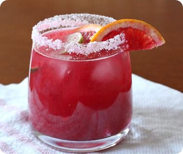Blood Orange Margarita:  This blog has a bunch of really delicious cocktails I must try!