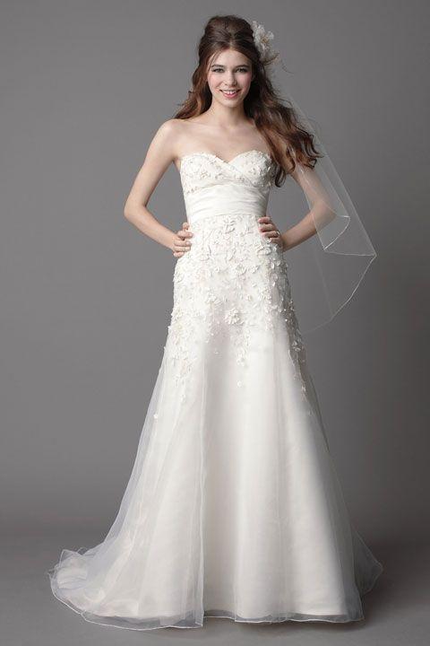 Trumpet Bottom Wedding Dresses : Trumpet wedding dresses organza used