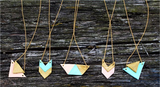 40 Gorgeous DIY Necklaces via Brit + Co.: #23 on the list...scroll down the page; these are clay...