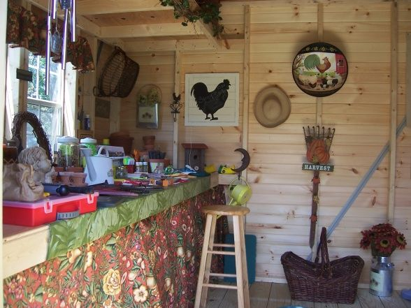 French Country Potting Shed Decor Little Potting Shed