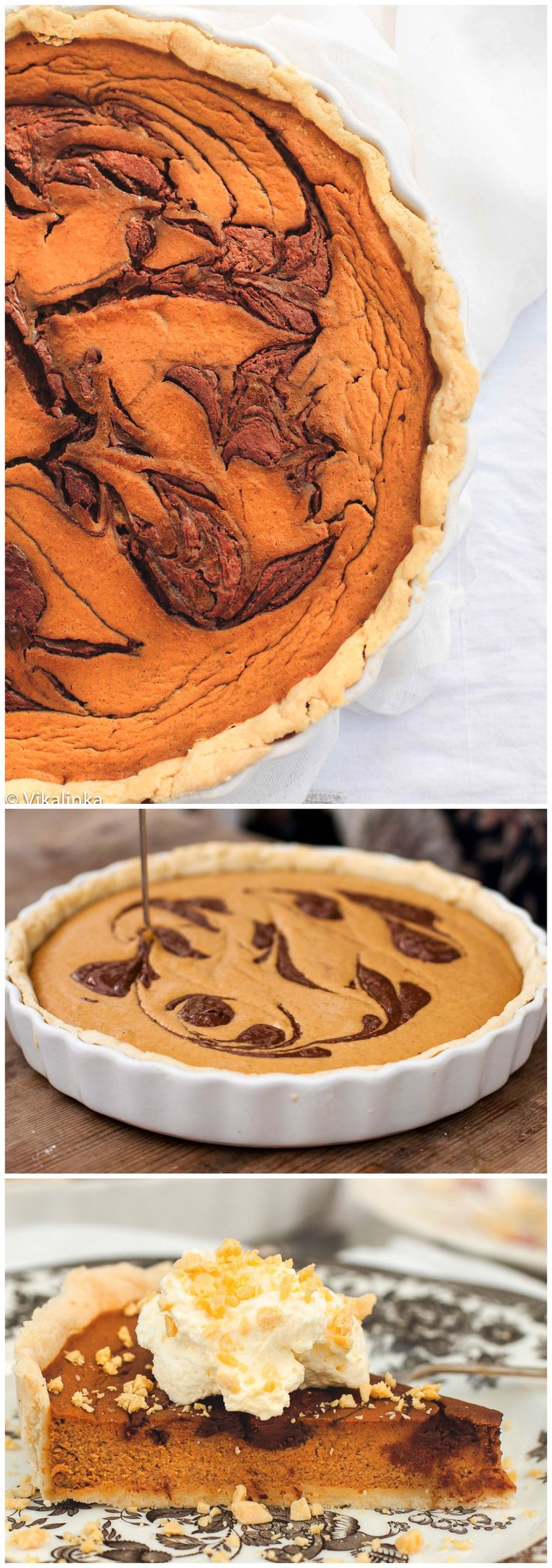 Pumpkin Pie with Toblerone Swirl (gf crust) Toberlone is Gluten Free! My Favorite!!!