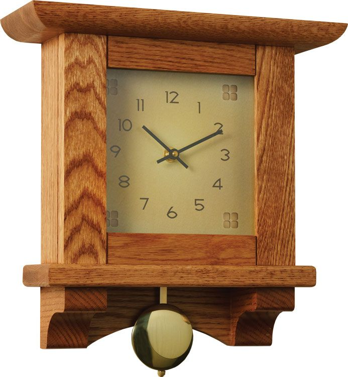 wood clock | Craftsman Woodworking Wall Clock Plan