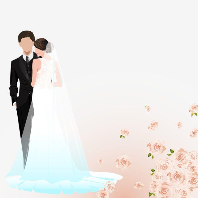Ilustracao Dos Noivos Noiva Png Casamento Imagem Png E Vetor Para Download Gratuito Bride Clipart Bride Cartoon Rose Wedding