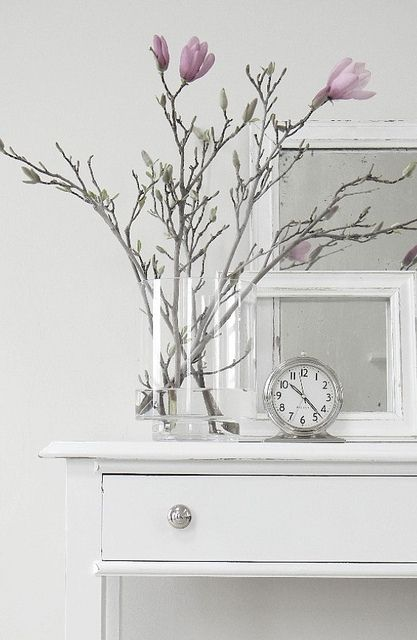 Gorgeous for spring Sideboard and Coffee Table Decor