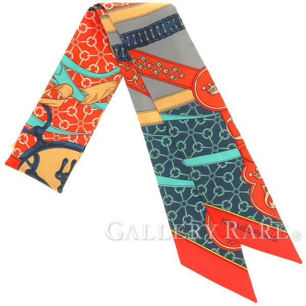 エルメス スカーフ ツイリー 朝の散歩 シルクツイル La Promenade du Matin HERMES シルクスカーフ 2017年春夏コレクション