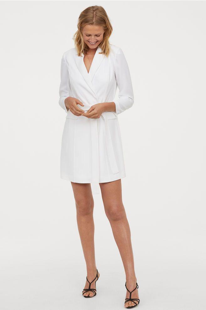 Jacket Dress White Ladies H M Us Jacket Dress Short Dresses White Dress