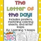 This download is for a Letter of the Day pack that includes: Letter of the Day Title Poster 26 Colorful Chevron Alphabet Posters 26 Alphabet coloring sheets Alphabet loops or bracelets