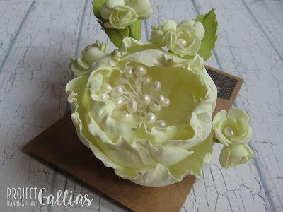 ProjectGallias: #projectgallias: Flower hair crown, hairpin, wedding, 100% handmade, Kwiatowa spinka, ozdoba do włosów, ślub, rękodzieło