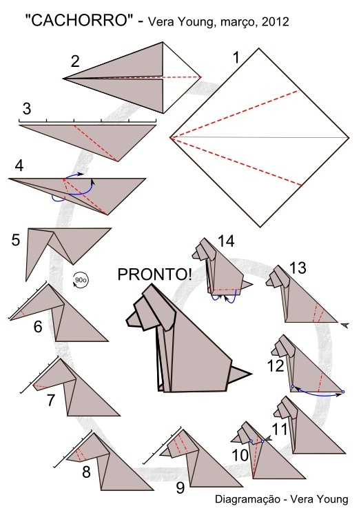 les 25 meilleures idées de la catégorie origami chien sur