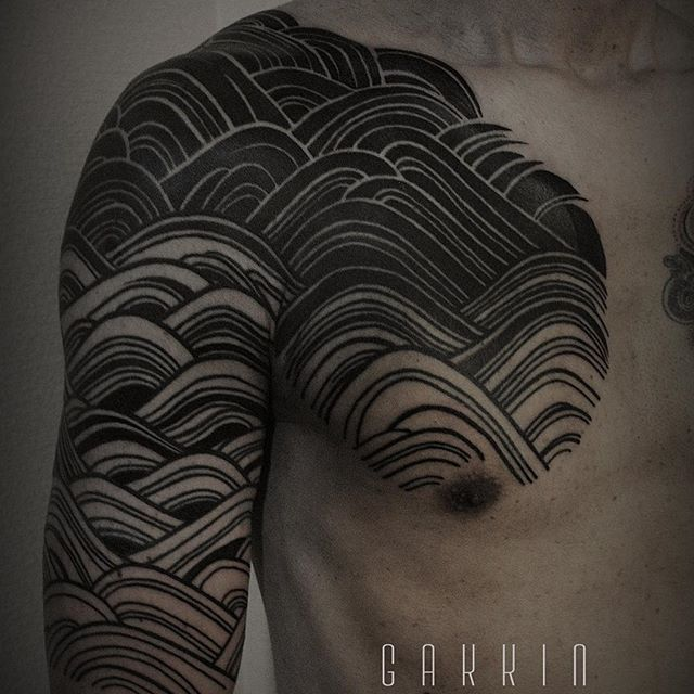 Blackwork sleeve by Gakkin