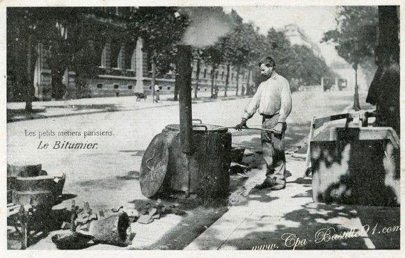 Les Petits Métiers Parisiens - Le Bitumier -  Cliquez sur la carte pour l'agrandir et en voir tous les détails