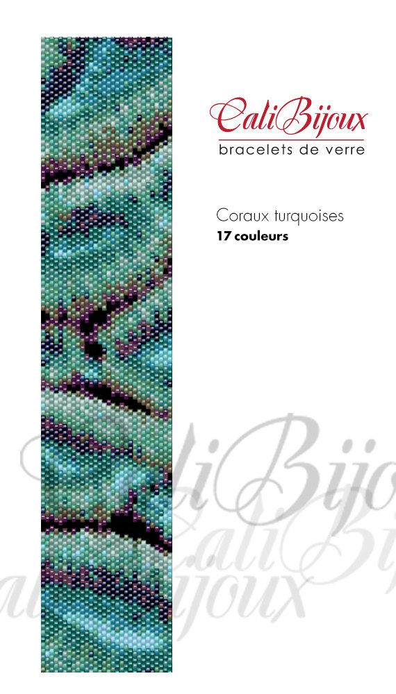 Coraux+turquoises++PATTERN+by+CALIBIJOUX+on+Etsy,+$10.00