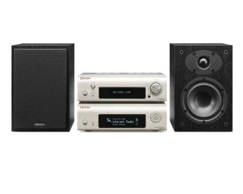 Denon D-F109DABNSPBKEK Network Streamer System with Network Player, DAB Receiver and Speaker - Silver/Black - http://Media-Streaming-Devices.co.uk/product/denon-d-f109dabnspbkek-network-streamer-system-with-network-player-dab-receiver-and-speaker-silverblack/