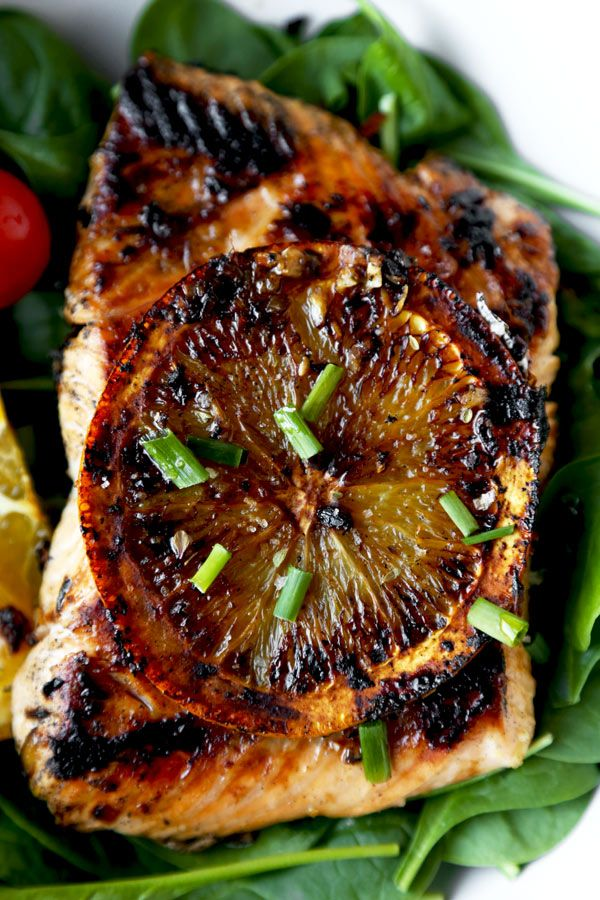 This is an easy and healthy orange-ginger Salmon Marinade with sweet and bright flavors. The best salmon marinade and it only takes five minutes to prep!