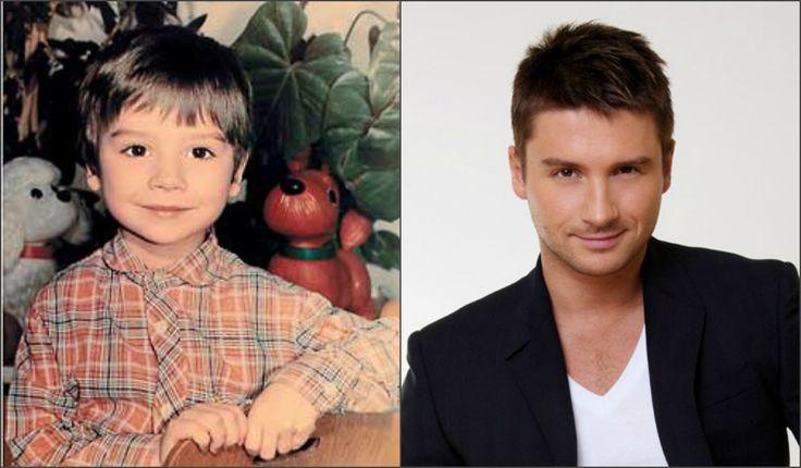 Сергей Лазарев в детстве,в юности и сейчас