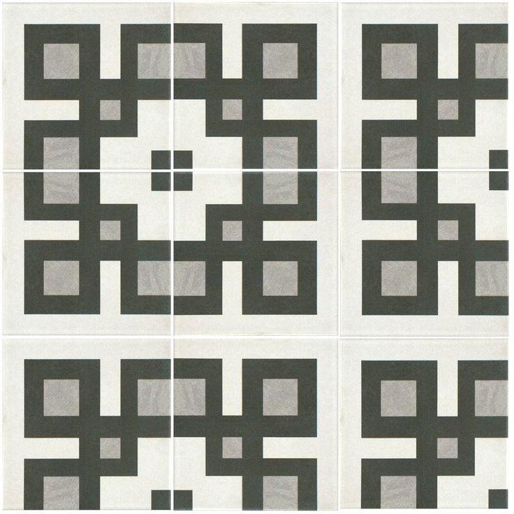 Merola Tile Twenties Corner 7 3/4 In. X 7 3/4 In. Ceramic Floor And Wall  Tile