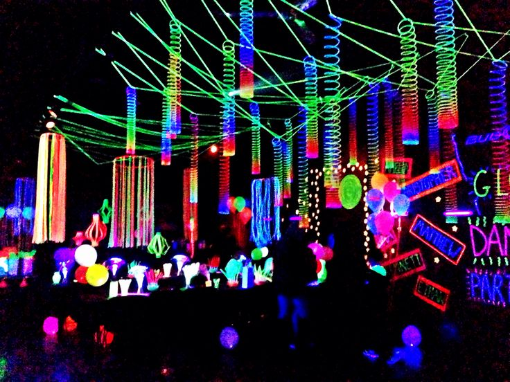 glow party decorations party themes party decoration ideas party ideas ...