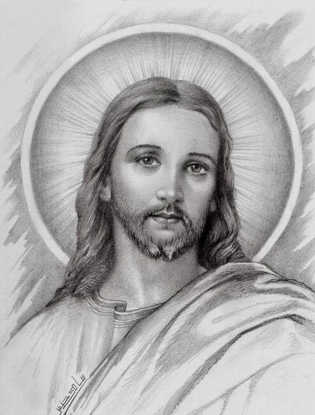 Pin De Nan Barber En Cristo Vive Rostro De Jesus Rostro De Jesucristo Dibujos De Jesus