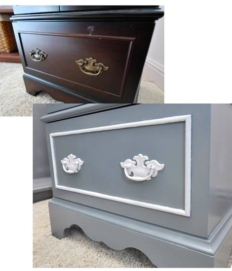 spray paint furniture!!!! Great Idea!!! I got some that need a facelift, especially how I am painting and fixing up all the rooms!