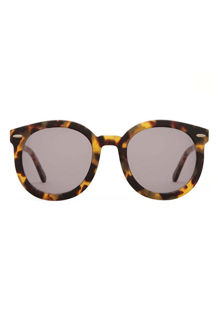 I need these in my life!....Karen Walker Sunglasses Super Duper Strength Oversized Round Frame