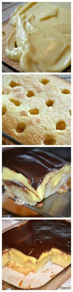 Deep Dish Boston Cream Pie Poke Cake                                                                                                                                                                                 More