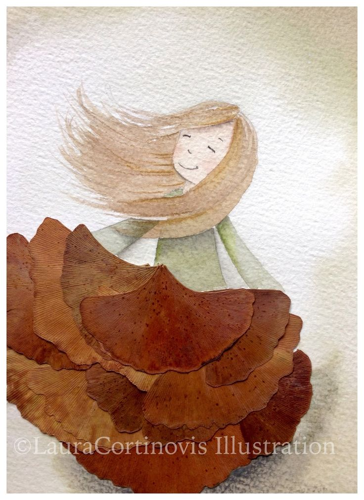 icoloridilaura: Come creare illustrazioni con le foglie...tutorial autunnale