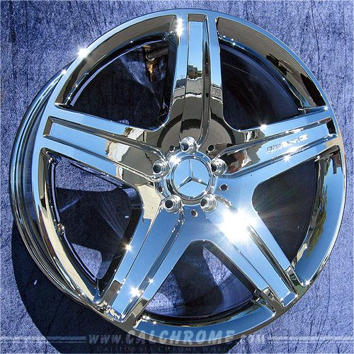Chrome mercedes wheels mercedes benz gl class gl550 amg for Chrome rims for mercedes benz