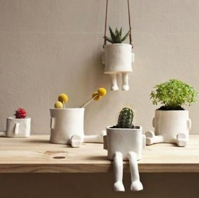 Fancy   Ceramic Hanging Pot By Wacamole Ceramic