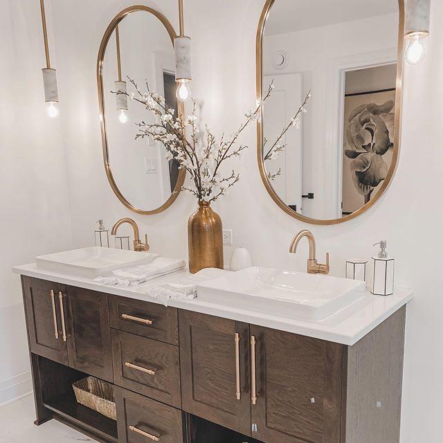 double sink vanity decor bathroom