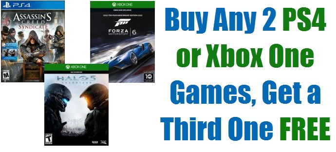 Best Buy: Buy Two, Get One Free Xbox or PS4 Games - Prices Start at $6.66 - HOT Games $39.99 - http://www.swaggrabber.com/?p=285945