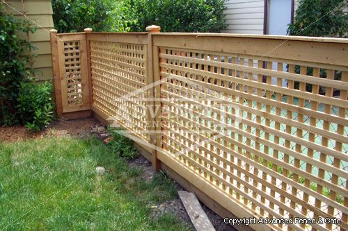 How to build wood lattice screens woodworking projects for Wood screen fence