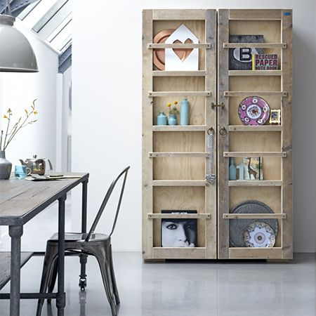Reclaimed Wood Is Recycled Into Kitchen Storage Cabinet   Make A Practical  Piece Of Furniture For
