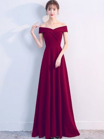 Volltonfarbe Slash Neck ärmellose Maxi Kleider   – modelos lindo de vestidos!