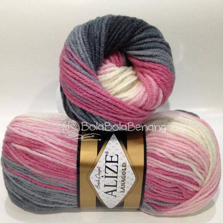 LANAGOLD BATIK 1602, Price: Rp.100.000,- /gulung, Bahan: 49% Wool – 51% Acrylic, Berat/Panjang: 100gr/240m, Knitting Needles: 4mm –6mm, Crochet hook: 5mm - 6mm