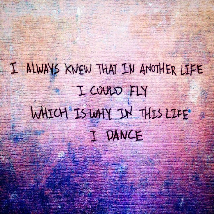 Favorite dance quote