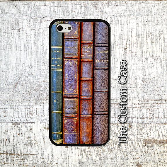 Antique Books Phone Case, Stacked Books Phone Case, Old Books Phone Case, Iphone 4/5/5c/6/6+, Samsung Galaxy S3/S4/S5/S6/S6 Edge