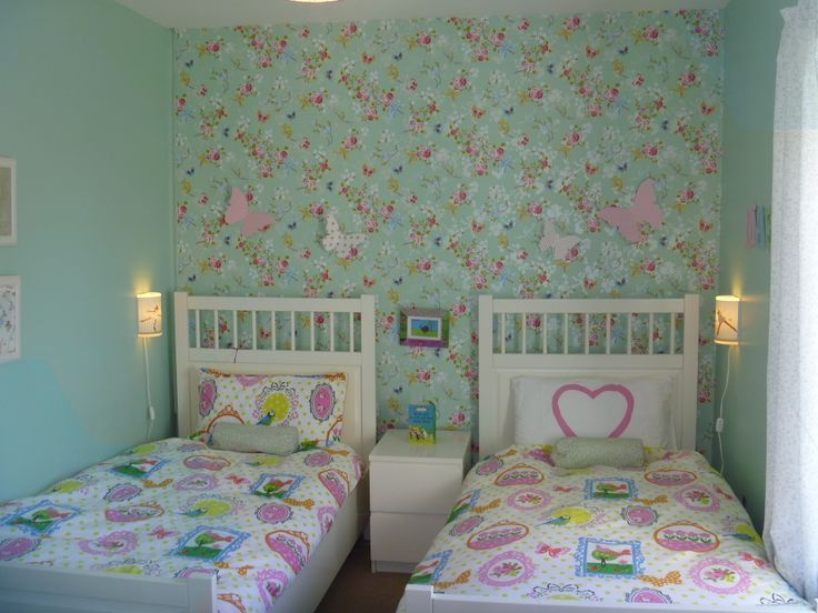 Sisters Sharing A Small Bedroom Needed It To Be Pretty And Practical Shared Girls Bedroom Small Shared Girls Bedroom Kids Shared Bedroom